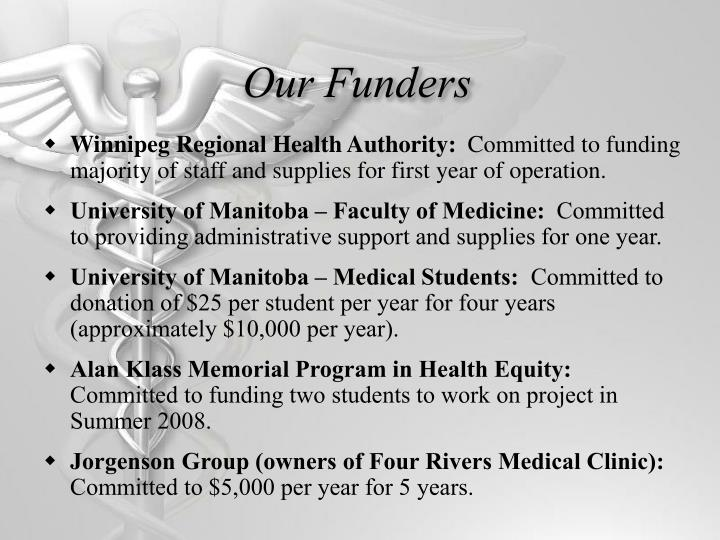Our Funders
