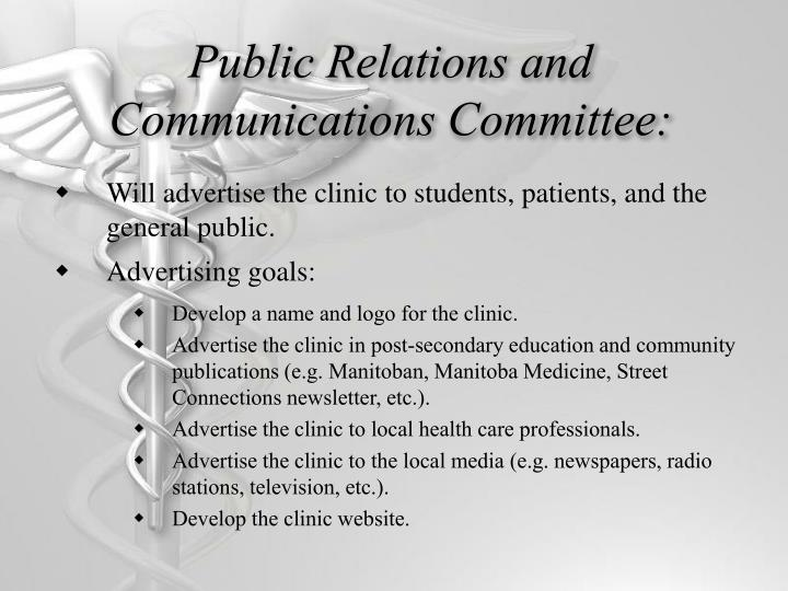 Public Relations and Communications Committee: