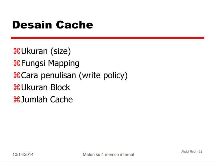 Desain Cache