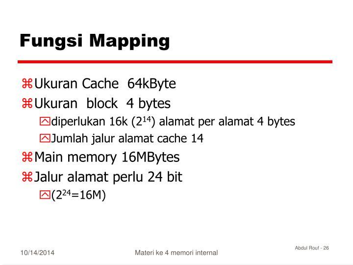 Fungsi Mapping