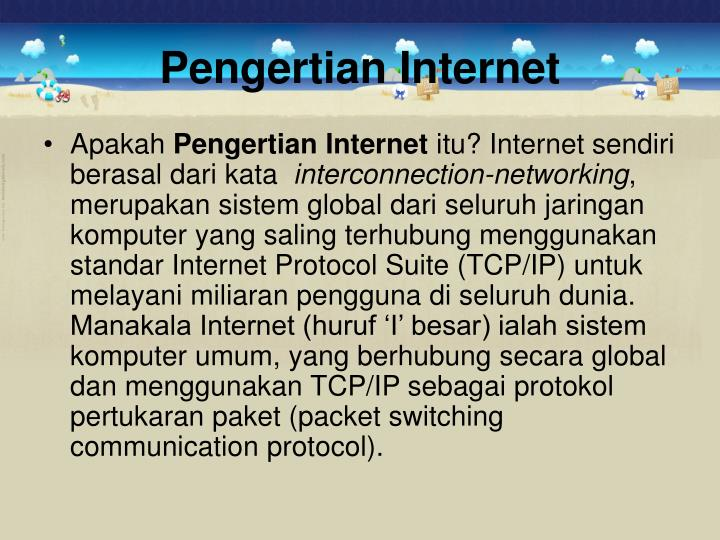 Pengertian internet