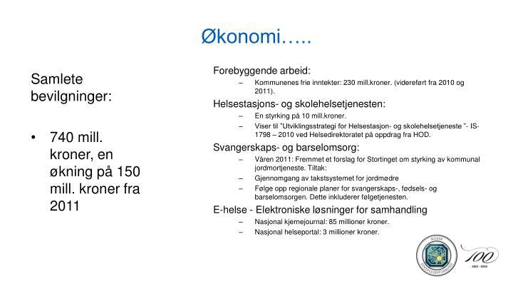 Økonomi…..