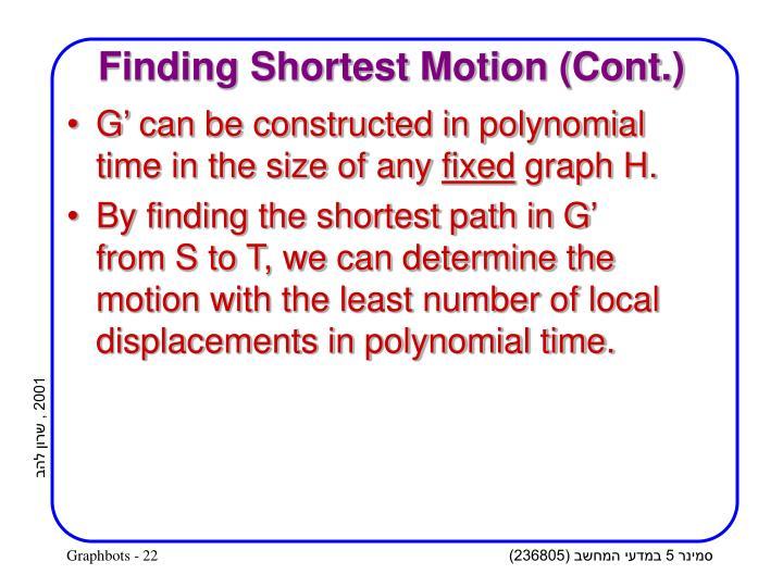 Finding Shortest Motion (Cont.)