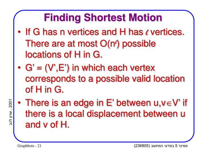 Finding Shortest Motion
