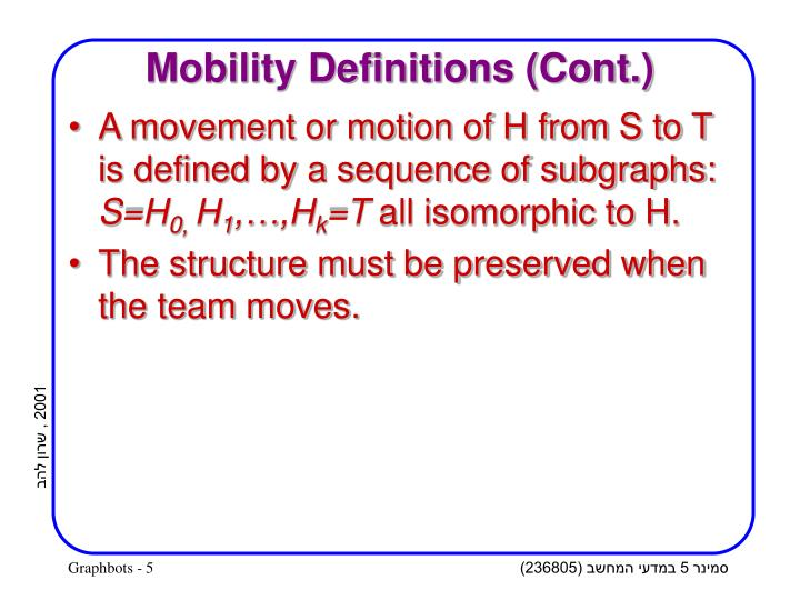 Mobility Definitions (Cont.)