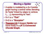 moving a spider