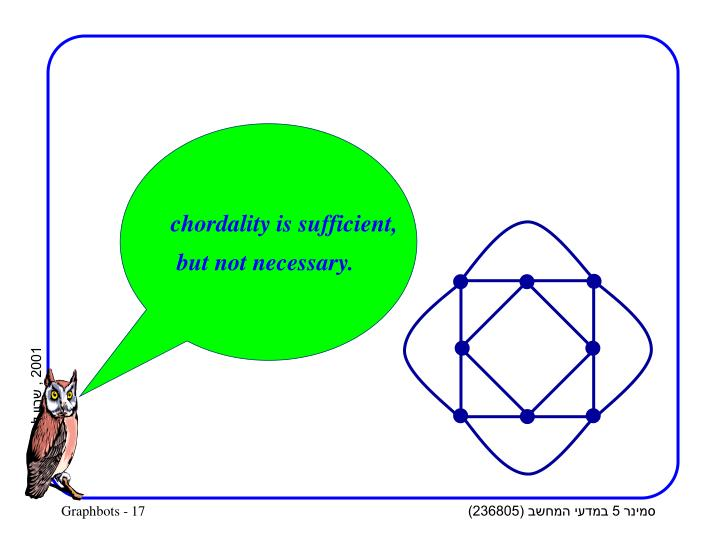 chordality is sufficient,