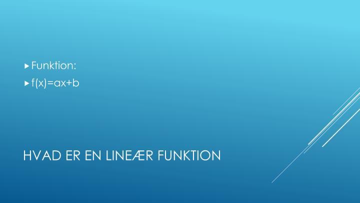 Funktion: