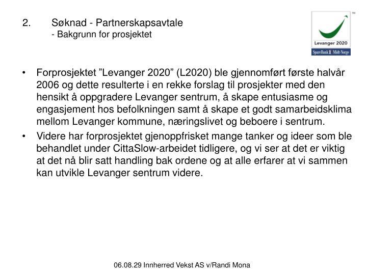 2.Søknad - Partnerskapsavtale