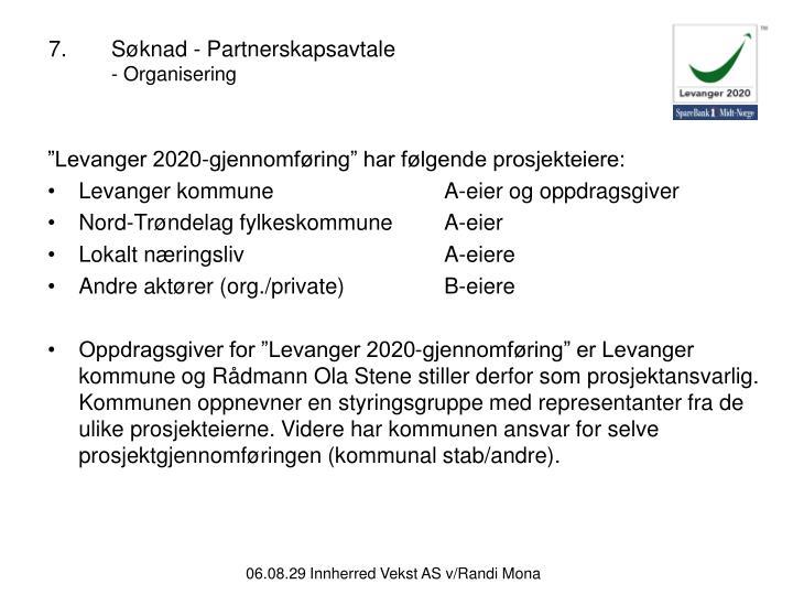 7.Søknad - Partnerskapsavtale
