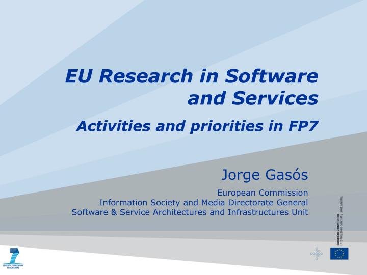 EU Research in Software and Services