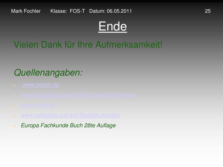 Mark Fochler       Klasse:  FOS-T   Datum: 06.05.2011                                                    25