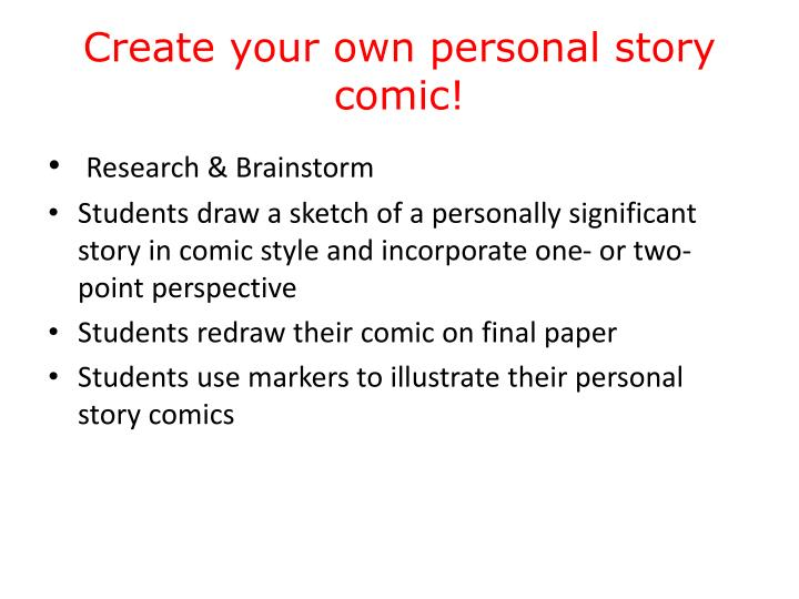 Create your own personal story comic!