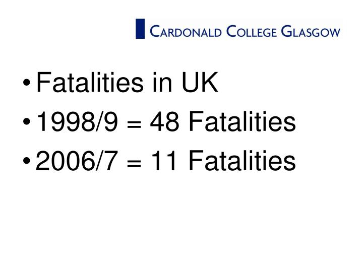 Fatalities in UK