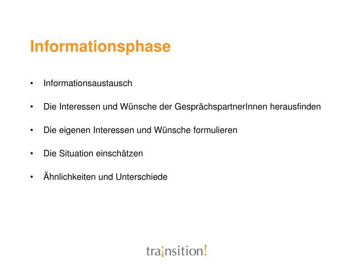 Informationsphase