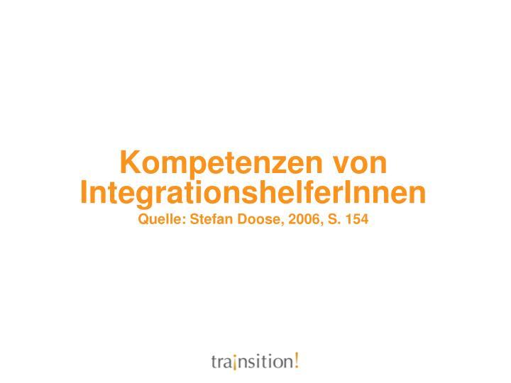 Kompetenzen von IntegrationshelferInnen