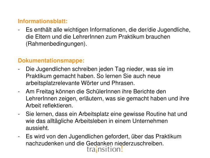 Informationsblatt: