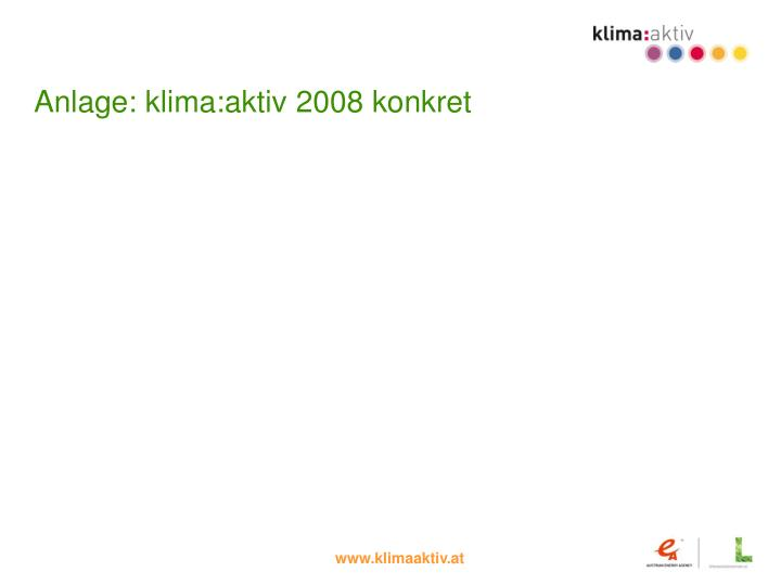 Anlage: klima:aktiv 2008 konkret