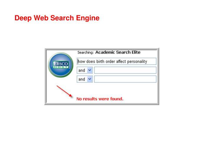 Deep Web Search Engine