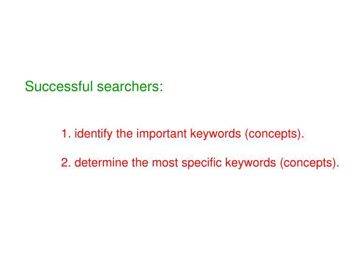 Successful searchers:
