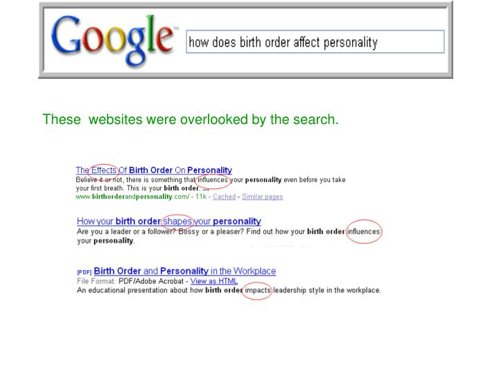 These  websites were overlooked by the search.