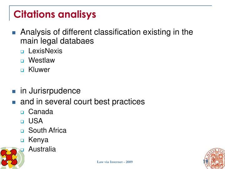 Citations analisys