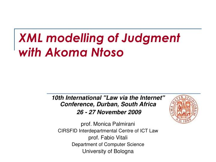 xml modelling of judgment with akoma ntoso