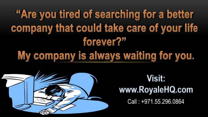 """Are you tired of searching for a better company that could take care of your life forever"