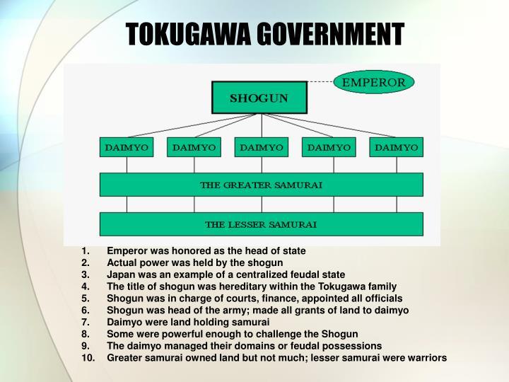 TOKUGAWA GOVERNMENT