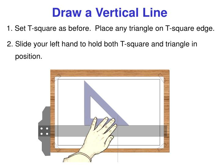 Draw a Vertical Line