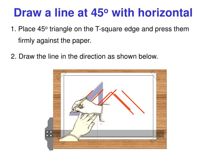 Draw a line at 45