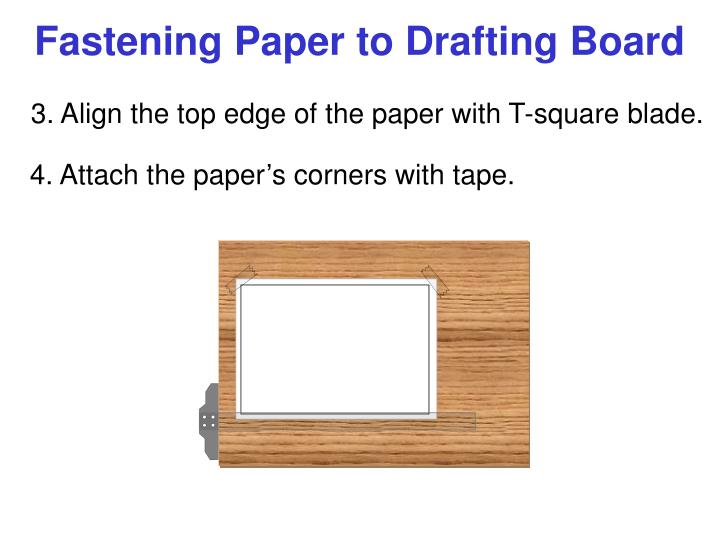 Fastening Paper to Drafting Board