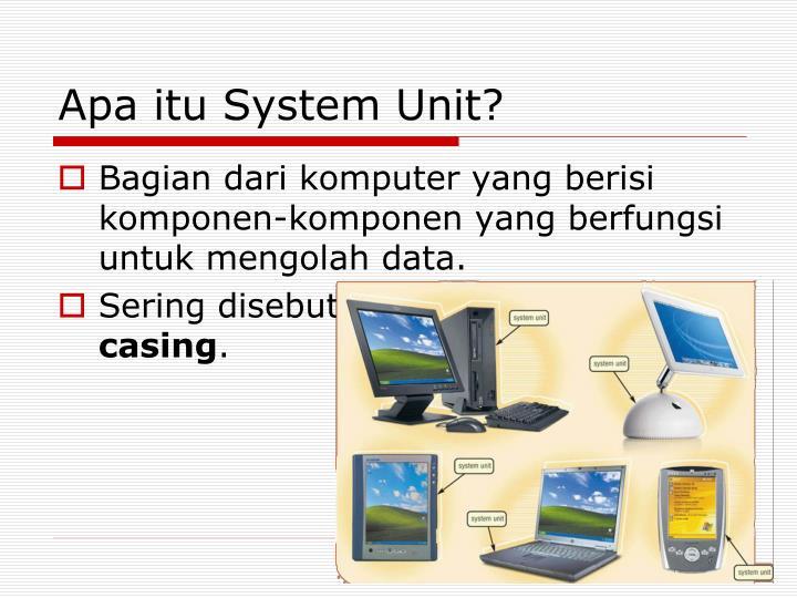 Apa itu System Unit?
