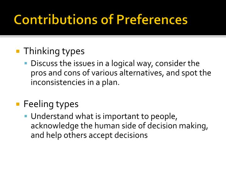 Contributions of Preferences