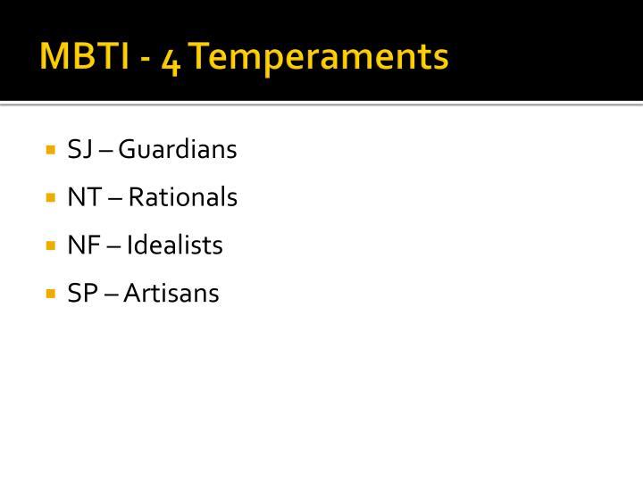 MBTI - 4 Temperaments