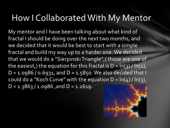 How i collaborated with my mentor