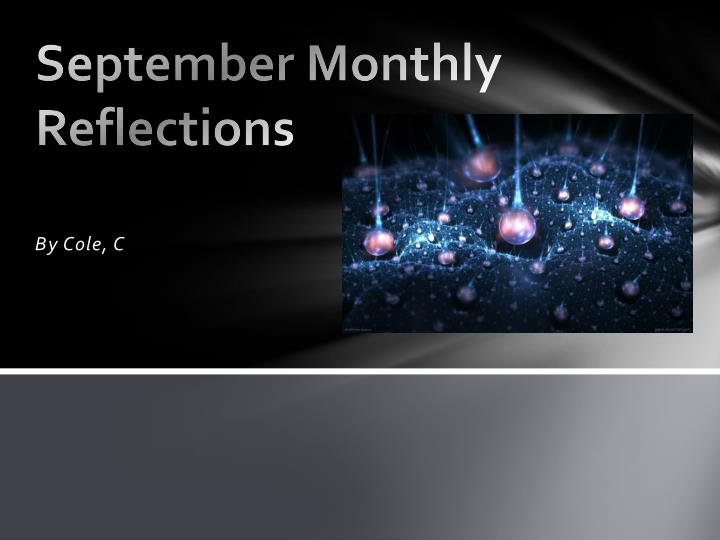 September Monthly Reflections