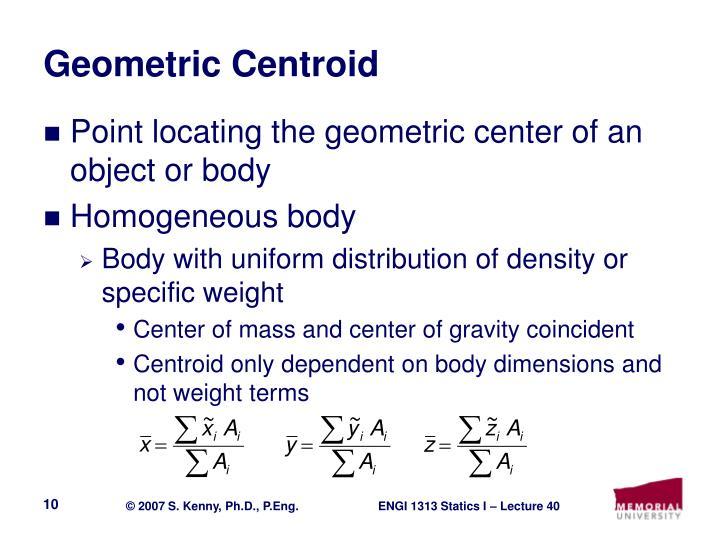 Geometric Centroid