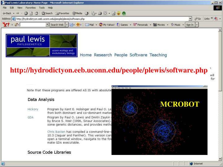 http://hydrodictyon.eeb.uconn.edu/people/plewis/software.php