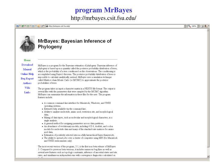program MrBayes
