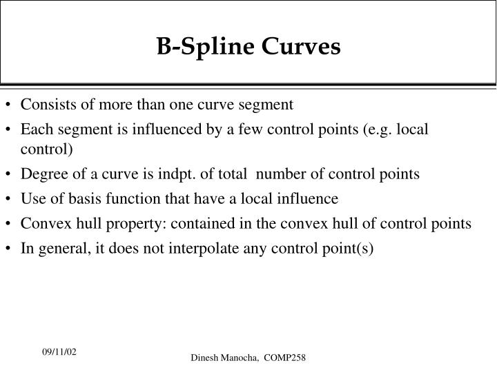 B-Spline Curves