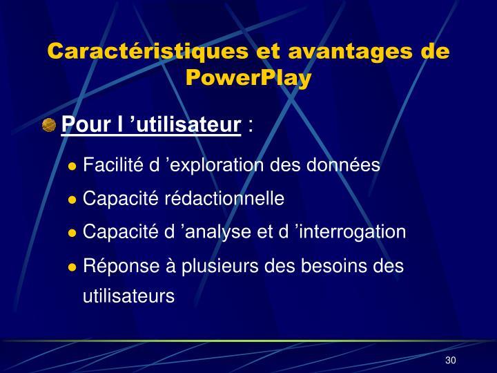 Caractéristiques et avantages de PowerPlay