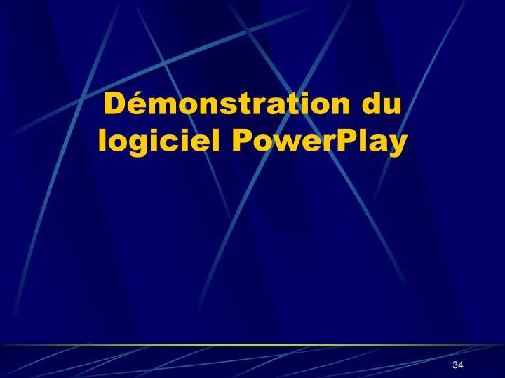 Démonstration du logiciel PowerPlay