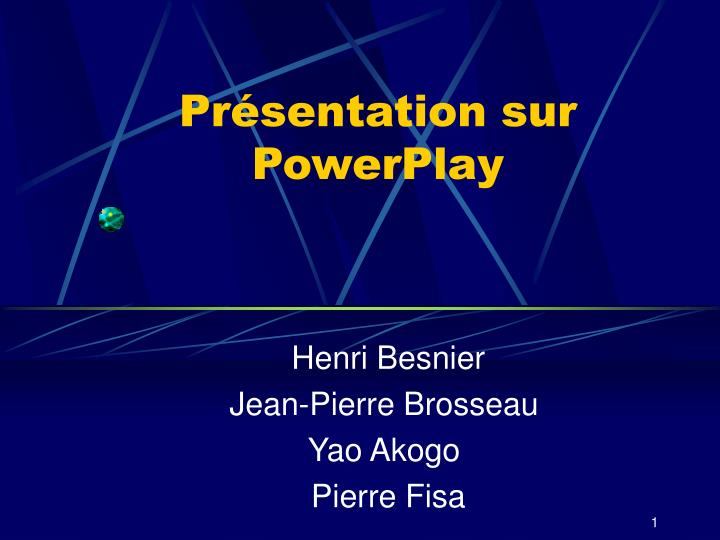 Pr sentation sur powerplay