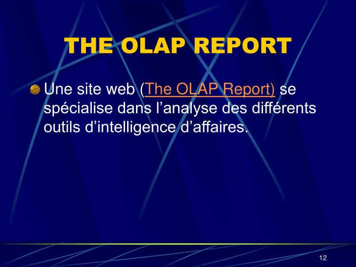 THE OLAP REPORT