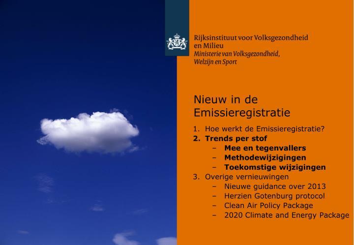 Nieuw in de Emissieregistratie