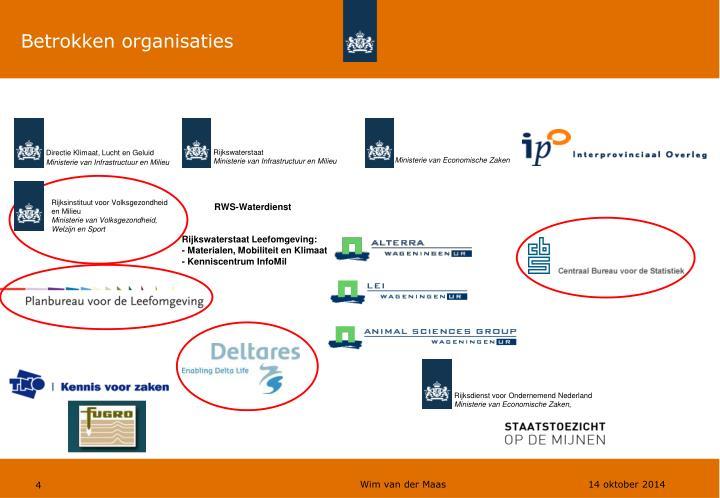 Betrokken organisaties