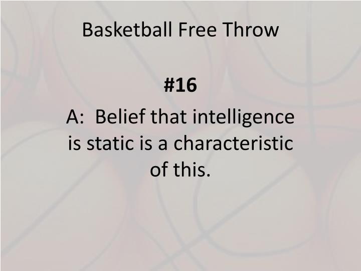 Basketball Free Throw