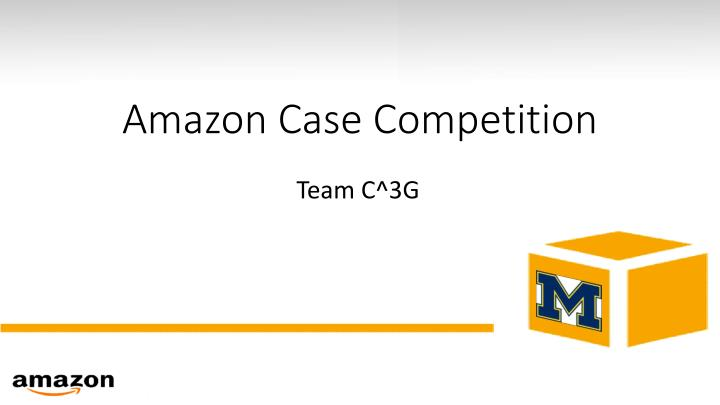 Amazon case competition