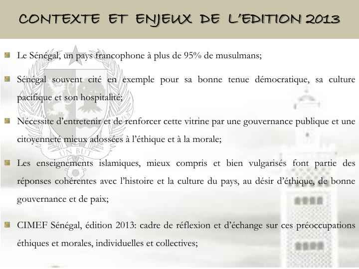 Contexte  ET  ENJEUX  DE  L'EDITION